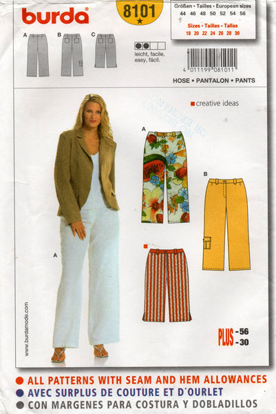burda 8101 oop pants