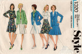 Style 1020 Womens Blouse Jacket & Skirt 1970s Vintage Sewing Pattern Size 14 Bust 36 inches