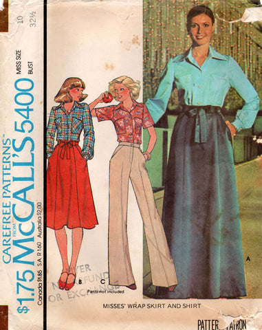 McCall's 5400 70s skirt and blouse