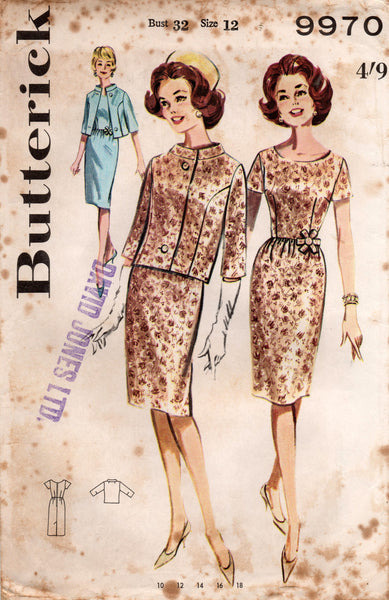 butterick 9970 60s dress and jacket