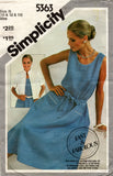 Simplicity 5363 Womens EASY Pullover Dress & Jacket 1980s Vintage Sewing Pattern Size 10 - 14