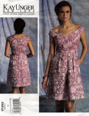 vogue 1392 kay unger dress oop
