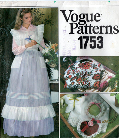 vogue 1753 70s apron and gift things