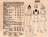 Le Roy Weldons 9201 Womens Cropped Top & Skirts 1960s Vintage Sewing Pattern Bust 32 1/2 inches