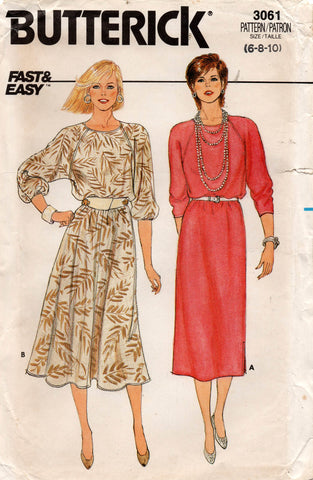 butterick 3061 80s dress
