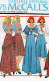 McCall's 5296 Womens T Shirt Bias Skirts & Shawl 1970s Vintage Sewing Pattern Size 12 Bust 34 inches