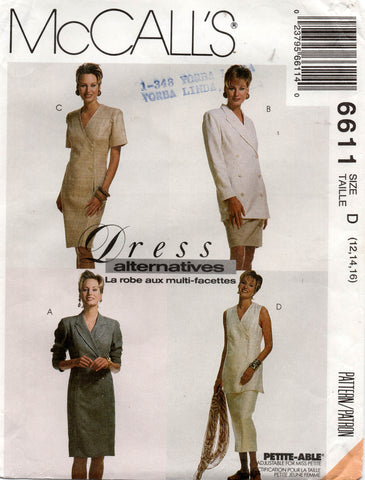 McCall's 6611 90s dress jacket skirt