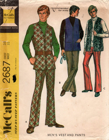 McCall's 2687 mens vest and pants