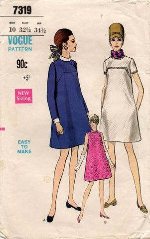 vogue 7319 60s maternity dress
