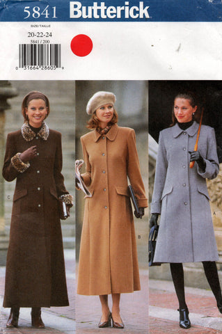 butterick 5841 90s coat