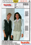burda 3413 oop vests