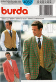 Burda 4052 Mens Formal Blazer Style Jacket & Waistcoat 1990s Vintage Sewing Pattern Size 38 - 48 UNCUT Factory Folds