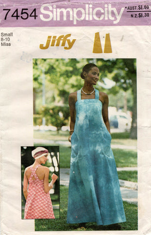 simplicity 7454 70s sundress