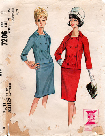 McCall's 7206 60s skirt suit