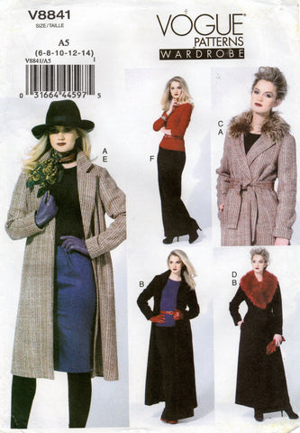 vogue 8841 oop coat and skirt