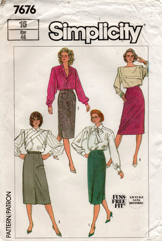 simplicity 7676 80s skirts