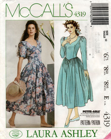 McCall's 4319 80s laura ashley dress