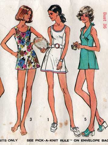 simplicity 5696 70s dress or swimsuit