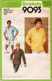 Simplicity 9093 Mens Caftan Style Shirts 1970s Vintage Sewing Pattern 40 or 42 UNCUT Factory Folded