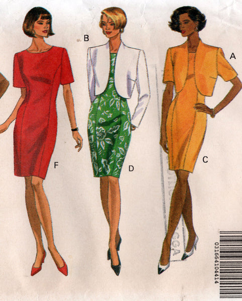 butterick 5446 90s dress and jacket