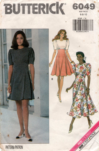 butterick 6049 90s dress