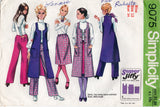 Simplicity 9075 Womens JIFFY Long Vest Skirt & Hipster Pants 1970s Vintage Sewing Pattern Size 12 Bust 34 Inches UNCUT Factory Folded