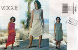 Vogue 7299 Womens Asymmetric Tops & Skirts OOP Sewing Pattern Size 8 - 12 UNCUT Factory Folded