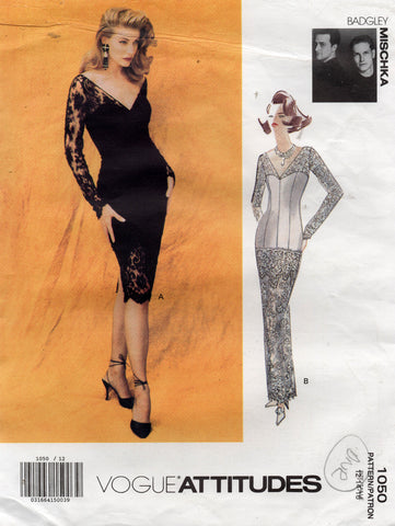 vogue 1050 badgley mischka dress 90s