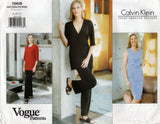 Vogue American Designer 1968 CALVIN KLEIN Womens Wrap Top Tunic Skirt & Pants 1990s Vintage Sewing Pattern Size 8 - 12 UNCUT Factory Folds