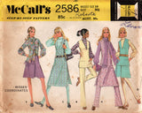 McCall's 2586 Womens Co-Ordinates 1970s Vintage Sewing Pattern Size 10 Bust 32 1/2 Inches UNCUT Factory Folds