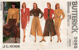 Butterick 5065 Womens J G HOOK Bomber Jacket Blouse Skirt & Culottes 1990s Vintage Sewing Pattern Sizes 18 - 22 UNCUT Factory Folds