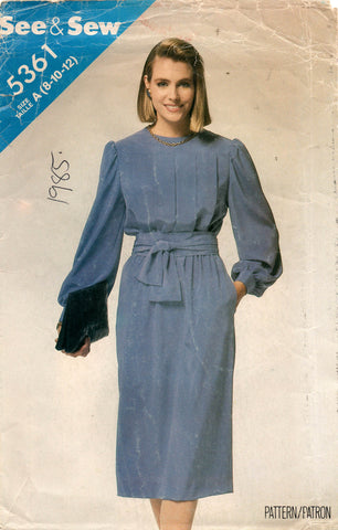 see and sew 5361 80s dress