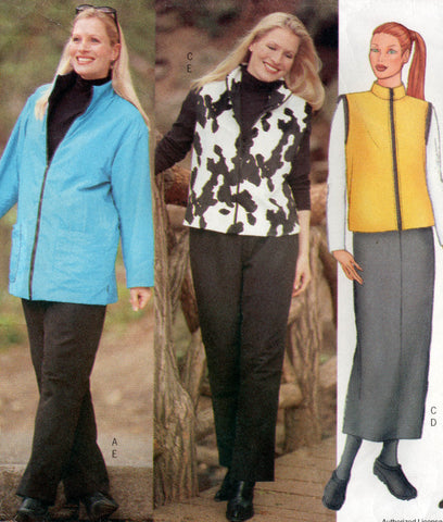 butterick 6779 winter separates oop