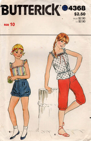 butterick 4368 80s girls separates