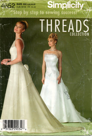 simplicity 4652 wedding dress oop