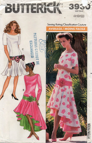 butterick 3930 80s dress