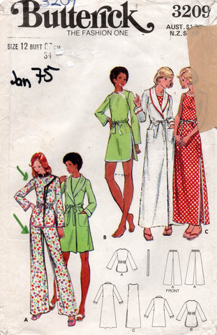 butterick 3209 70s sleepwear