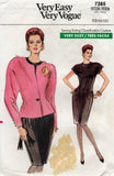 vogue 7385 80s dress and jacket