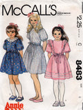 McCall's 8483 80s girls dress