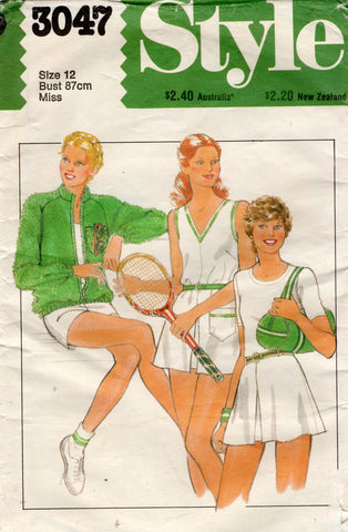 simplicity 3047 80s tennis outfit