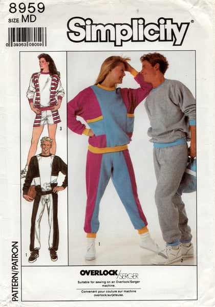 simplicity 8959 80s tracksuit