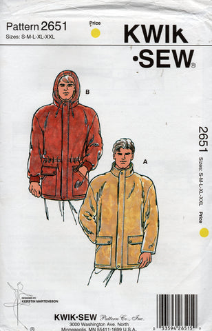 kwik sew 2651 90s mens jacket