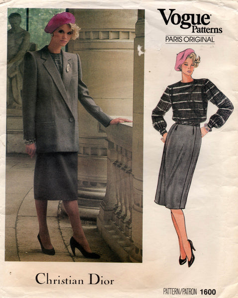vogue 1600 dior skirt suit 80s