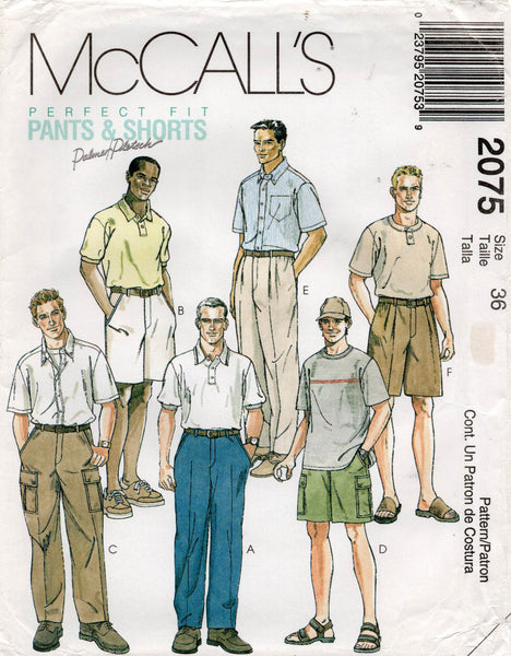 McCall's 2075 mens cargo pants shorts