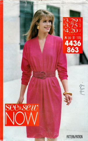 see and sew 4436 80s dress