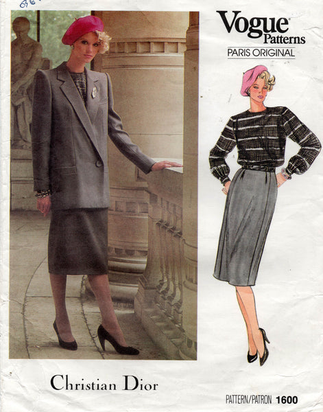 vogue 1600 dior skirt suit