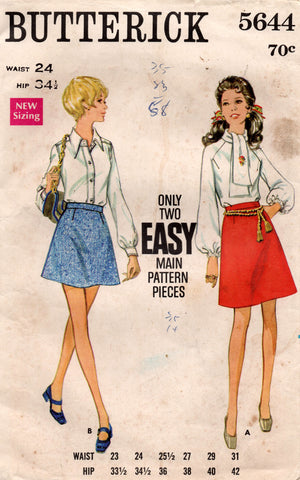 butterick 5644 60s skirt