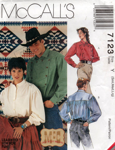 Mccall's 7123 90s western shirt