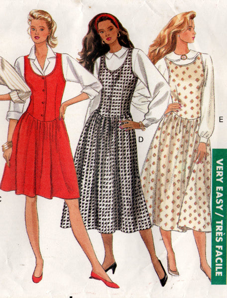 butterick 6696 80s jumper