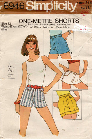 simplicity 6946 70s shorts